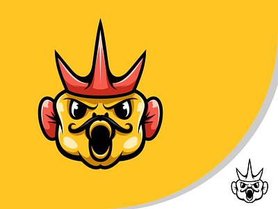 King Fish logo mascot animal animal illustration esports logo branding design vector character illustration icon art
