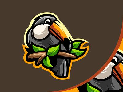 Toucan Mascot Logo animal logodesign esports gaming branding logo design illustration icon art