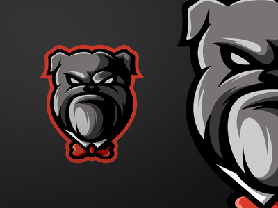 Bulldog mascot logo esports logo gaming esports branding design vector character icon illustration art
