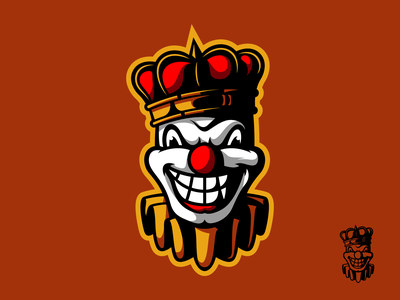Clown mascot logo animal icon esports gaming branding logo vector character art illustration