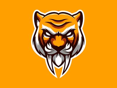 Tiger mascot logo mascot esports branding logo vector design character icon illustration art