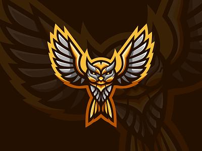 The Owl mascot logo animal mascot branding art character logo vector design icon illustration