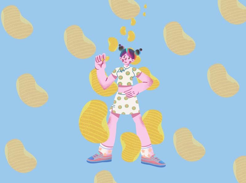 Potato chips girl