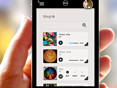 iOS7 Discogs App Concept ui discogs ios7 app dev