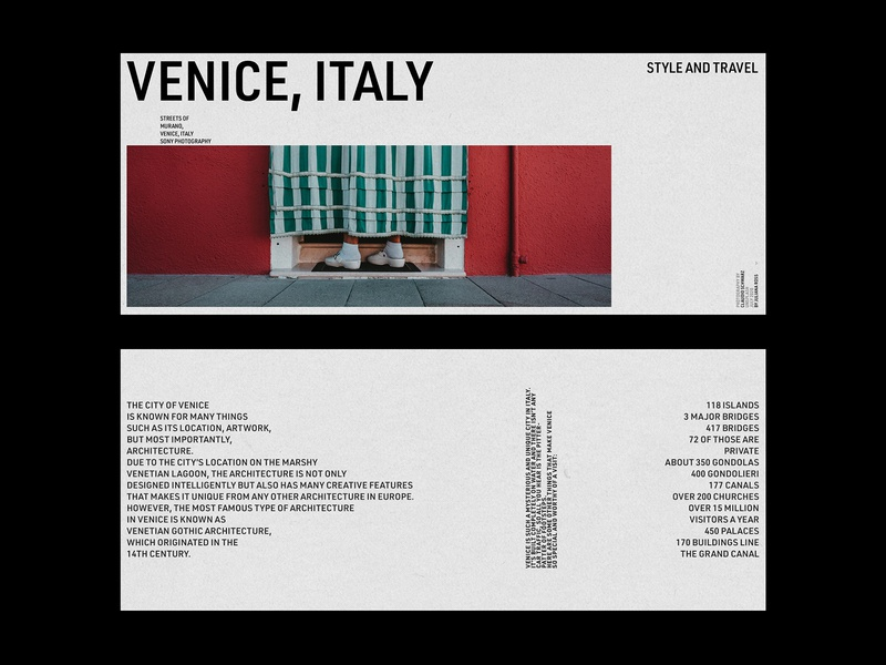 Style and Travel layout exploration layout design poster art poster a day poster design typeinspire typedesign card typography design italy photography travel typography art card design typography design