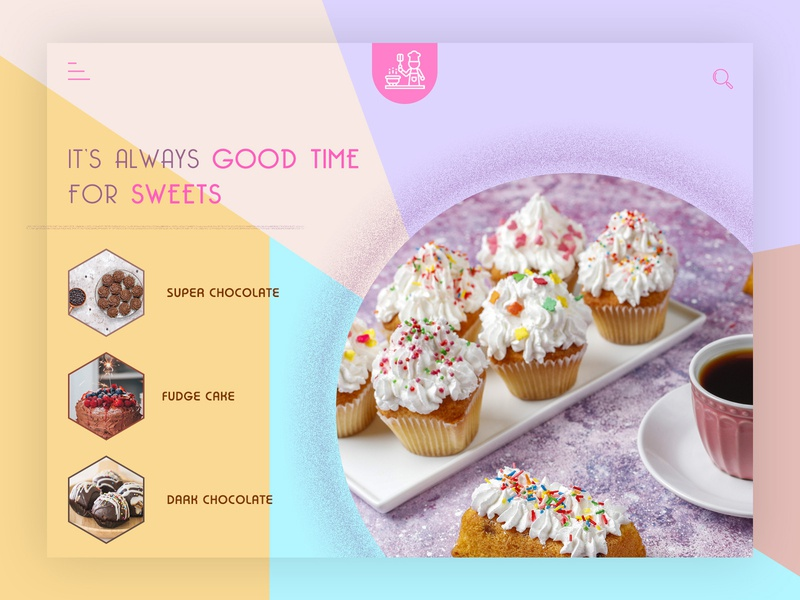 bakery bakery logo pink theme sweets light theme bakery flat design typography branding minimal homepage design trending ui latest design trending design