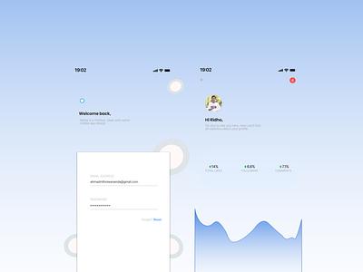 Login-Sample mobile app design mobile app login
