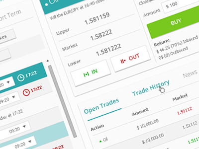 Forex Site Trading Page website flat design