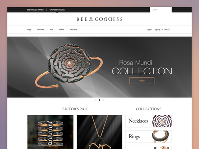 E-Commerce Site ecommerce product website flat flat design jewellery