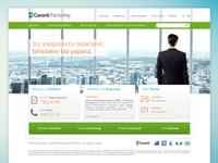 Garanti Factoring Website
