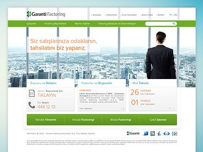 Garanti Factoring Website website factoring banking homepage
