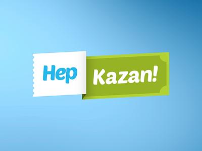 Hep Kazan flat application app logo logo