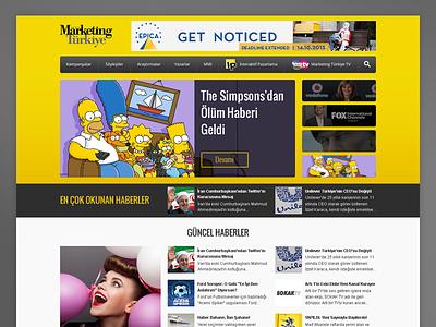 Marketing Türkiye Website homepage web design website