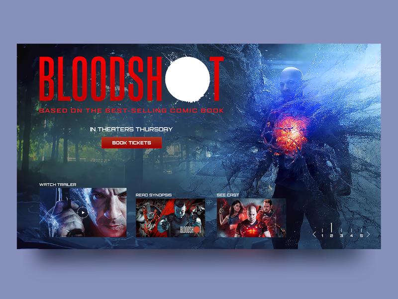 Bloodshot Promo Page Concept