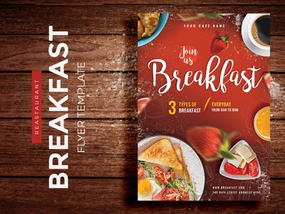 Breakfast Restaurant Flyer Template modern advertising flyer flyer design template a4 size print design restaurant advertising bread leaflet flyer flyer template brunch brunch flyer breakfast breakfas flyer template