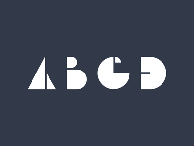 ABCD font typography typeface type white blue letters letter