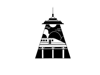 Bullet train lineart procreate blackandwhite train design illustration