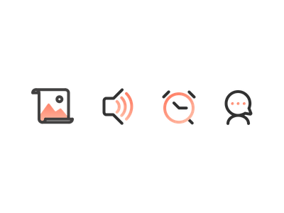 Combined Icons flat design simple iconography illustration flat icon set vector icon