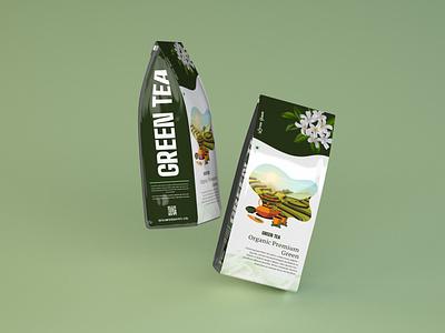 Creative Green Tea packaging. label design packaging tea mockup green tea label tea branding tea packet labeling tea label design green tea green tea packaging brand identity graphic design branding