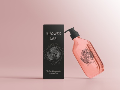 Every day is the perfect day to get a shower gel. #packageart packaging shower gel packaging shower gel creative design body wash package art design art and illustration creative art branding graphic design