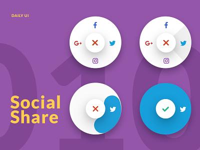 DailyUI - 010 - Social Share share social experimental daily ui