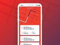 DailyUI - 020 - Location tracker