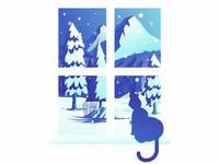 Kitty Snowfall