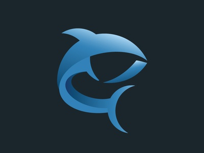 Gradient Fish Logo