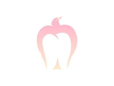 Tooth Bird - A Caring dentist Logo