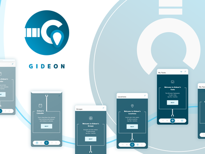 Gideon designs watermark calendar tasks groups location to do list task manager robot onboarding logo app branding typography icon illustration art ui figma design