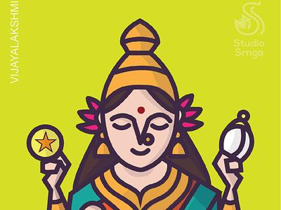 Ashtalakshmi Series - Vijayalakshmi indian mythology adobe illustrator studiosrnga illustration indian illustrator