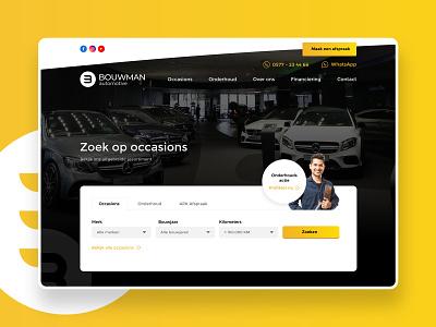 Car dealer website — Bouwman occasions laravel web development cars car web design 2020 website ux flat web design ui
