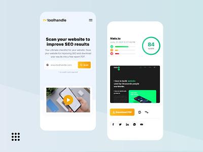 Toolhandle — Desin scan web website web development web design design ux