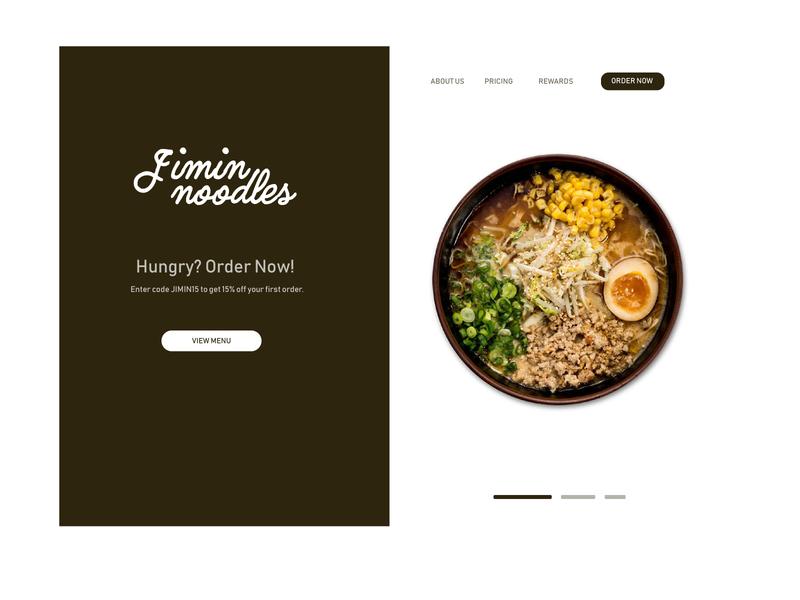 Food Brand minimal illustrator branding ux landing page ui typography design illustration