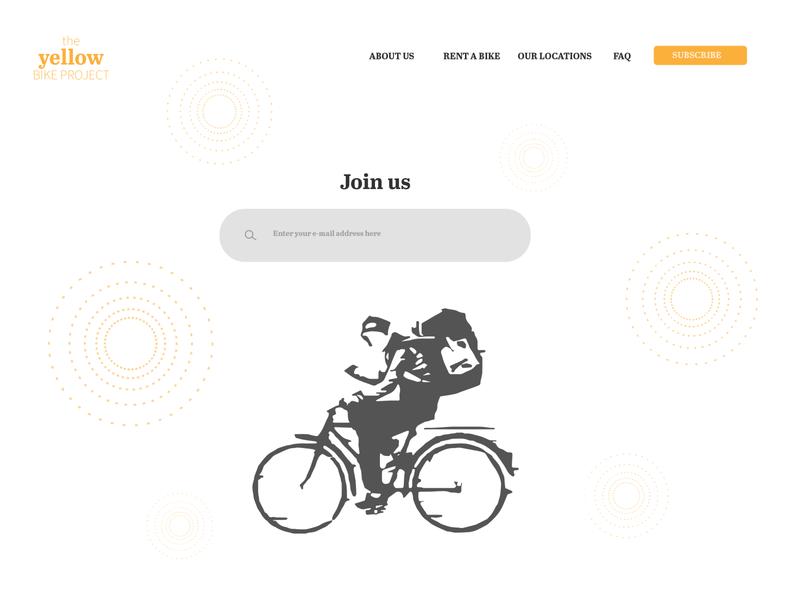 The Yellow Bike Project logo landing page branding ui ux design minimal illustrator illustration