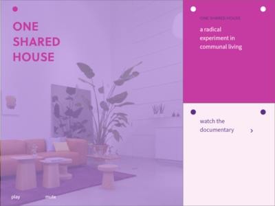 One Shared House illustration ui minimal design