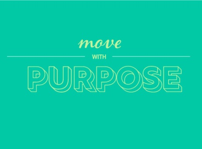 Move With Purpose typography ui design minimal