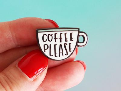 Coffee Enamel Pin
