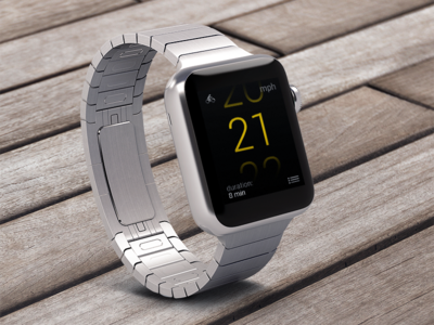 Concept of bicycle speedometer for Apple Watch concept prototype ui apple watch design interface app apple watch app bicycle speedometer sport