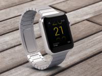 Concept of bicycle speedometer for Apple Watch