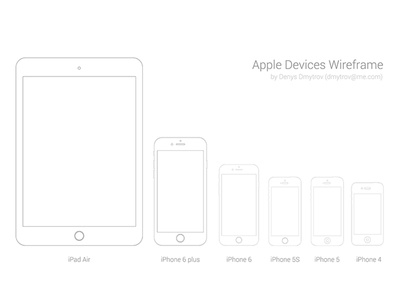 Apple device wireframe Sketch ipad iphone wireframe apple devices sketch