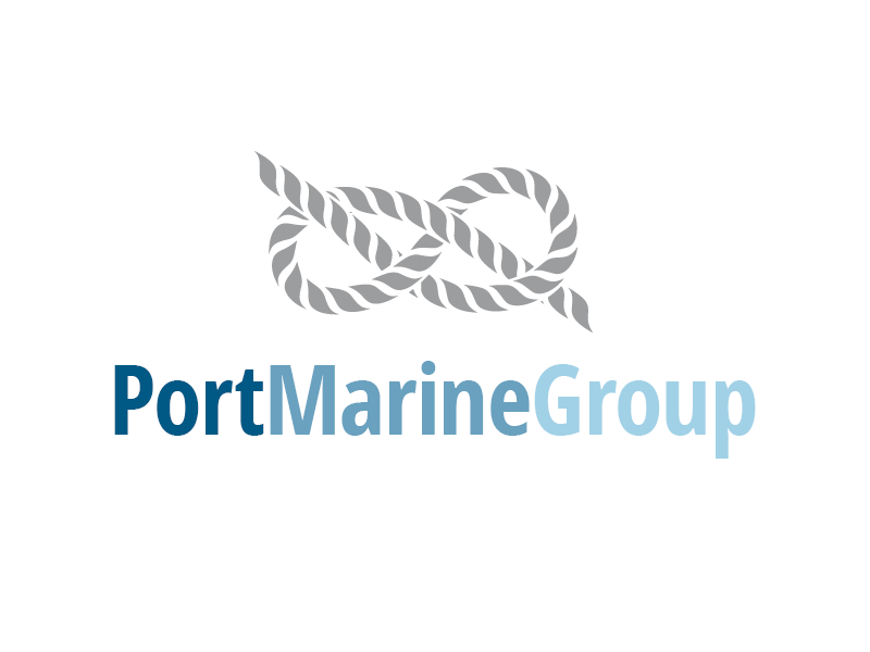 Portmarine Group Ltd design sailor transportation forwarding sea knot logo