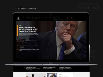 Aljazeera English website web design web development design