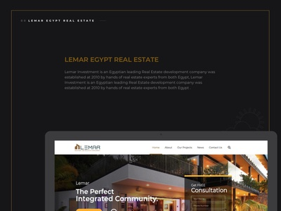 Lemar Real estate website design ux web development web design