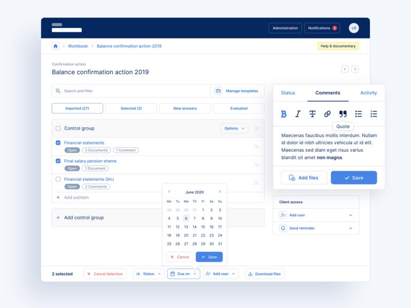 🔎 Web App for Auditors - Full Screen web ux ui tool interface finance desktop design audit app