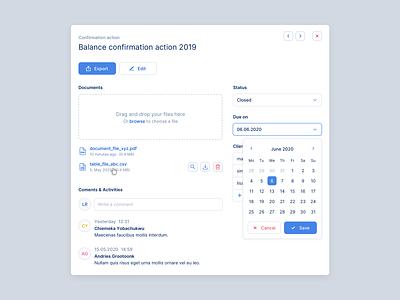 🔎 Web App for Auditors - Audit detail (modal) modal duesseldorf web finance interface design ux ui tool desktop app