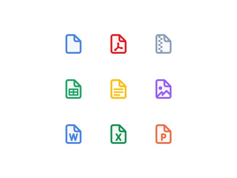 🔎 Web App for Auditors - File icons illustration icons icono icon set iconography filetype ux ui app web desktop icon drag and drop upload files file