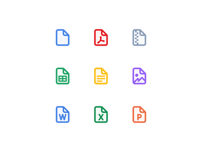 🔎 Web App for Auditors - File icons illustration icons icono icon set iconography filetype ux ui app web desktop icon drag and drop upload files file