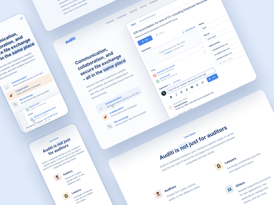 🏠 Auditi Homepage - Features audit software audit app finance app finance dashboard finance audit product page clean ui ux clean design ui design ui  ux features page saas website saas design clean ui clean webdesign
