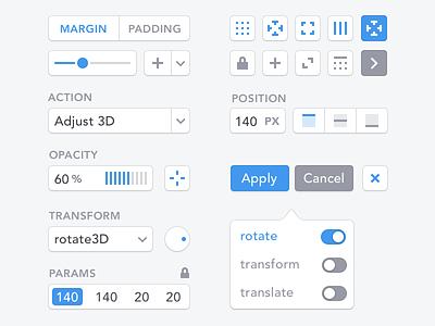 UI Elements ui kit uikits design system uikit uidesign user interface clean minimal ui design avenir elements controls ui buttons button application icons icon